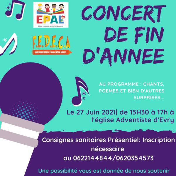 Concert de fin d'année 2021
